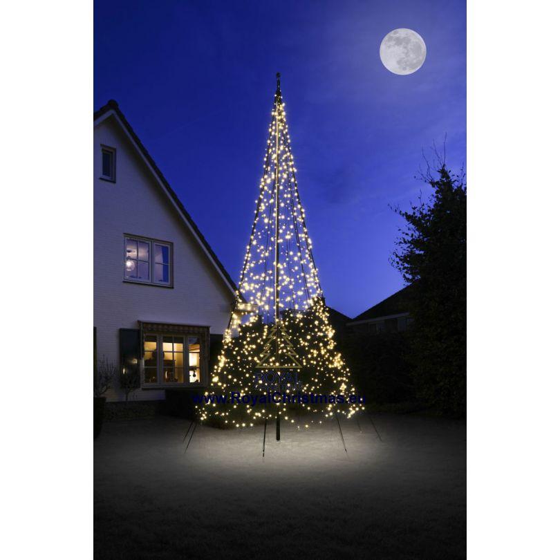 Albero Di Natale 6 Mt.Fairybell Luci Natalizie Albero Di Natale Pennone 6 Metri 600 Cm 1200 Led Albero Di Natale Per Ogni Giardino Con Calda Illuminazione A Led Alta Qualita Led Bianco Caldo